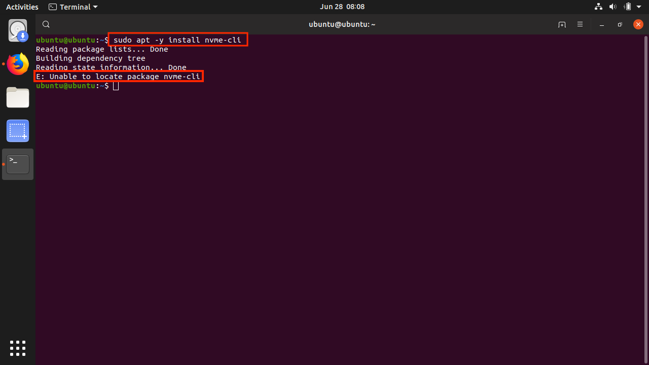 Ubuntu_Install_nvme_cli_fail