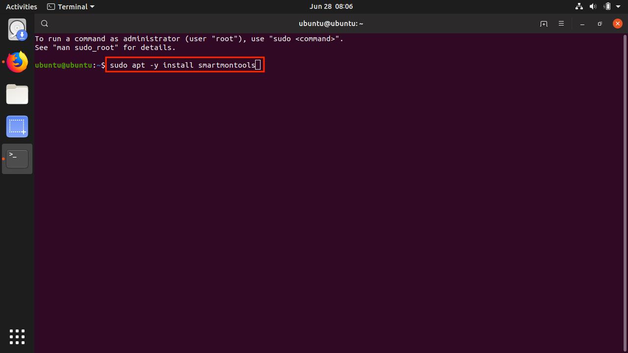 Ubuntu_Install_smartmontools