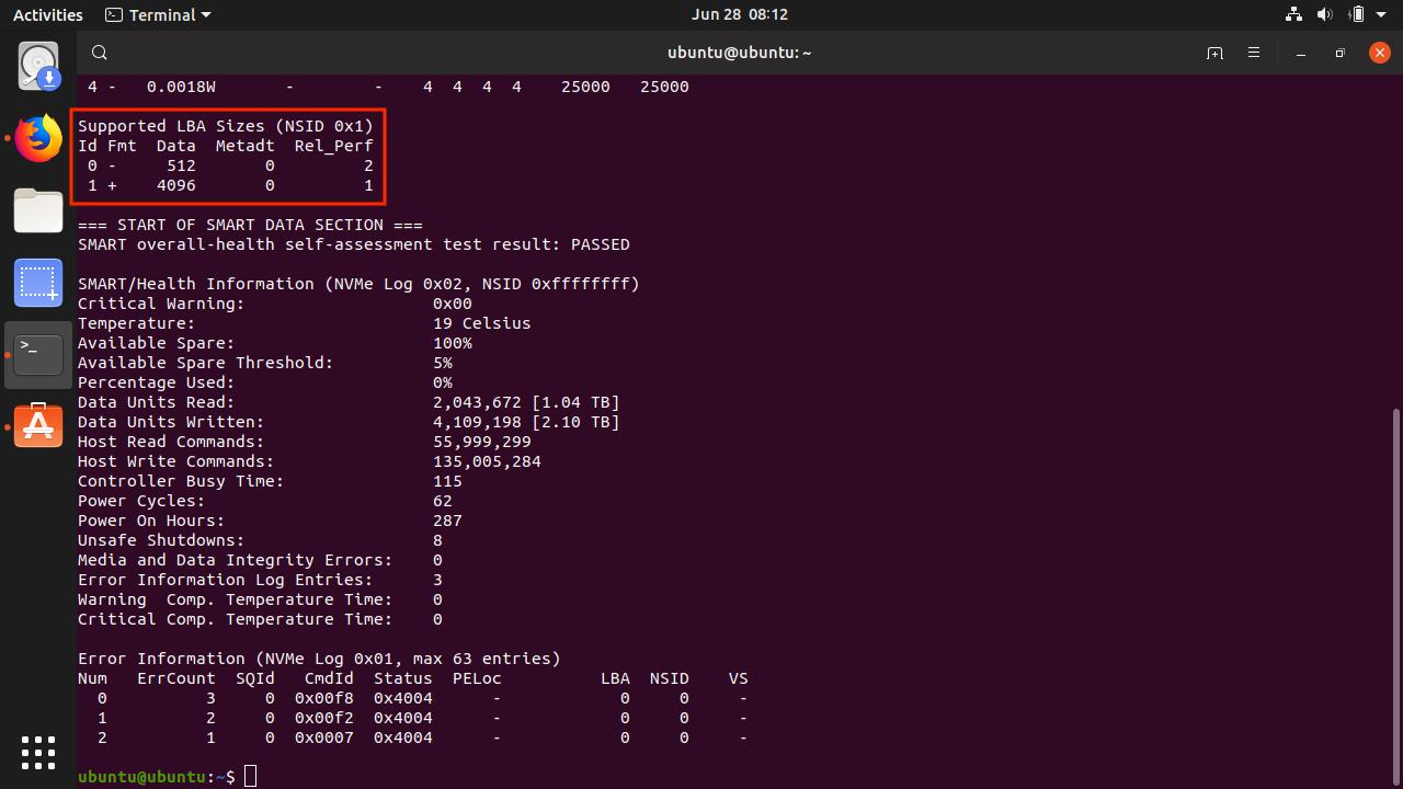 Ubuntu_Run_smartctl_result
