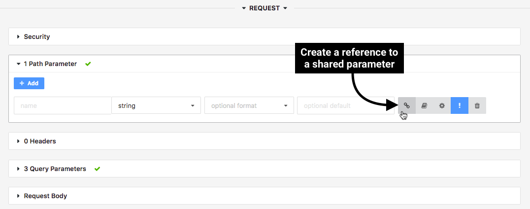 Create a reference to a shared parameter