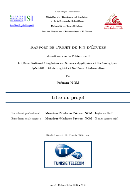 template latex rapport pfe