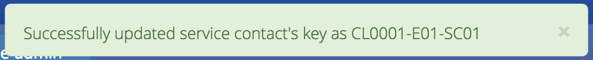 Service Contact Key Saved Successfully