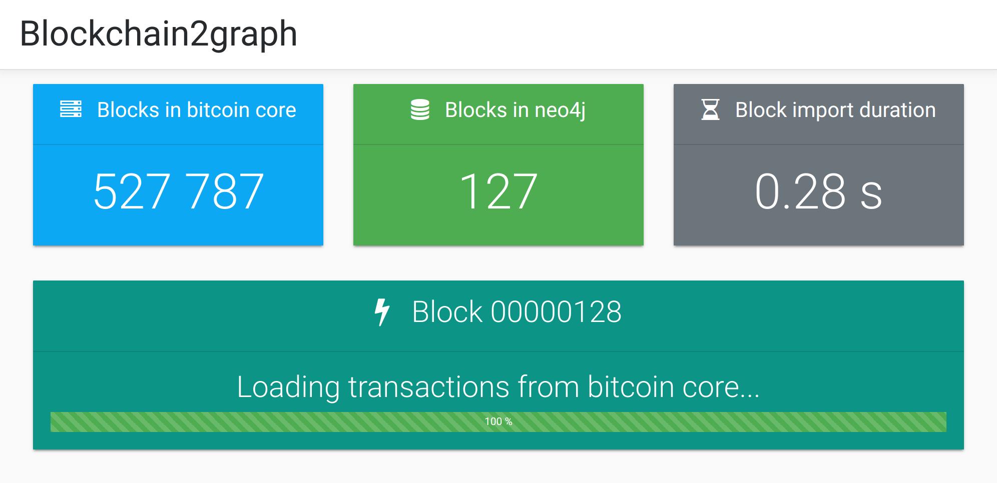 Blockchain2graph console