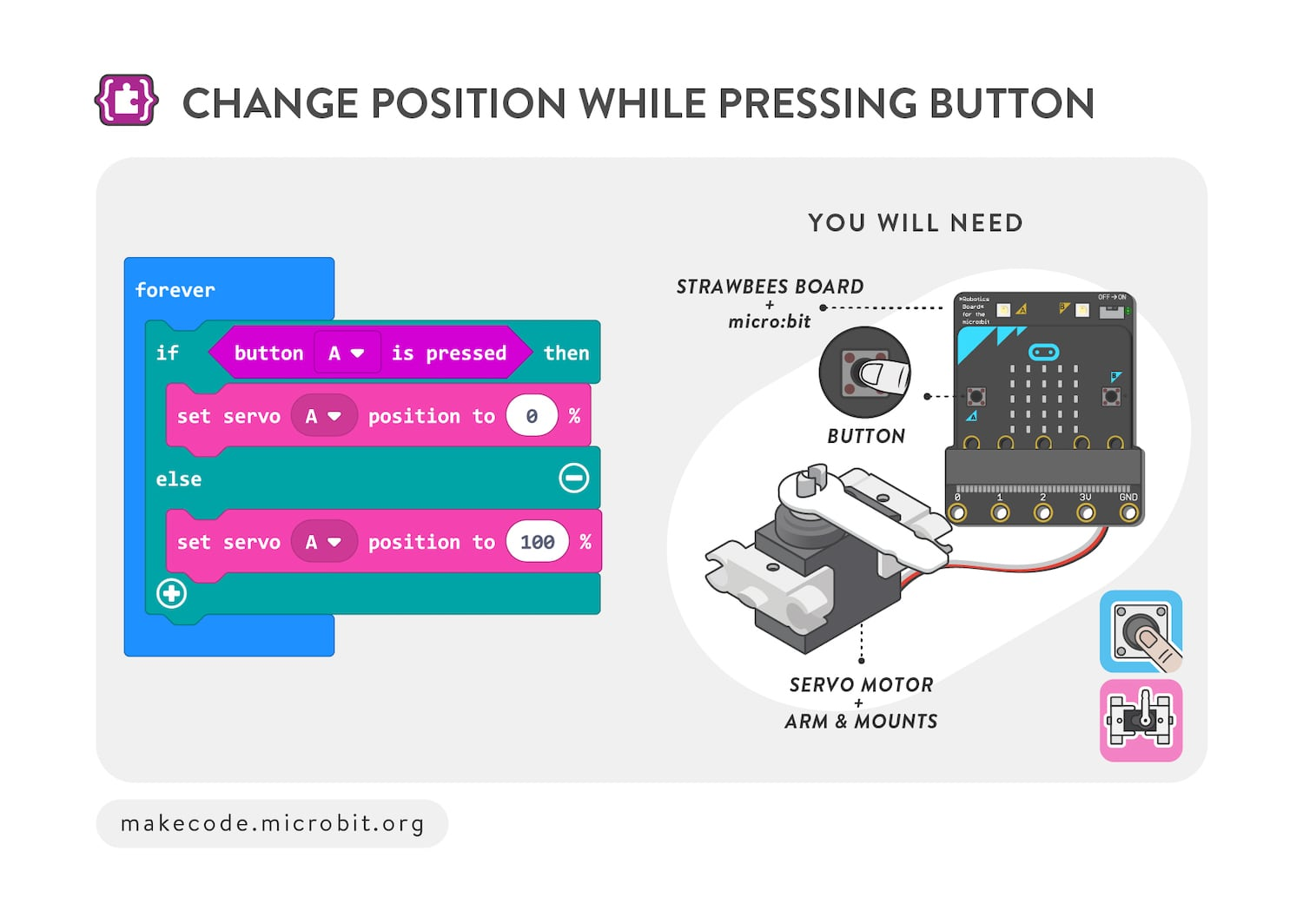 Change position while pressing button