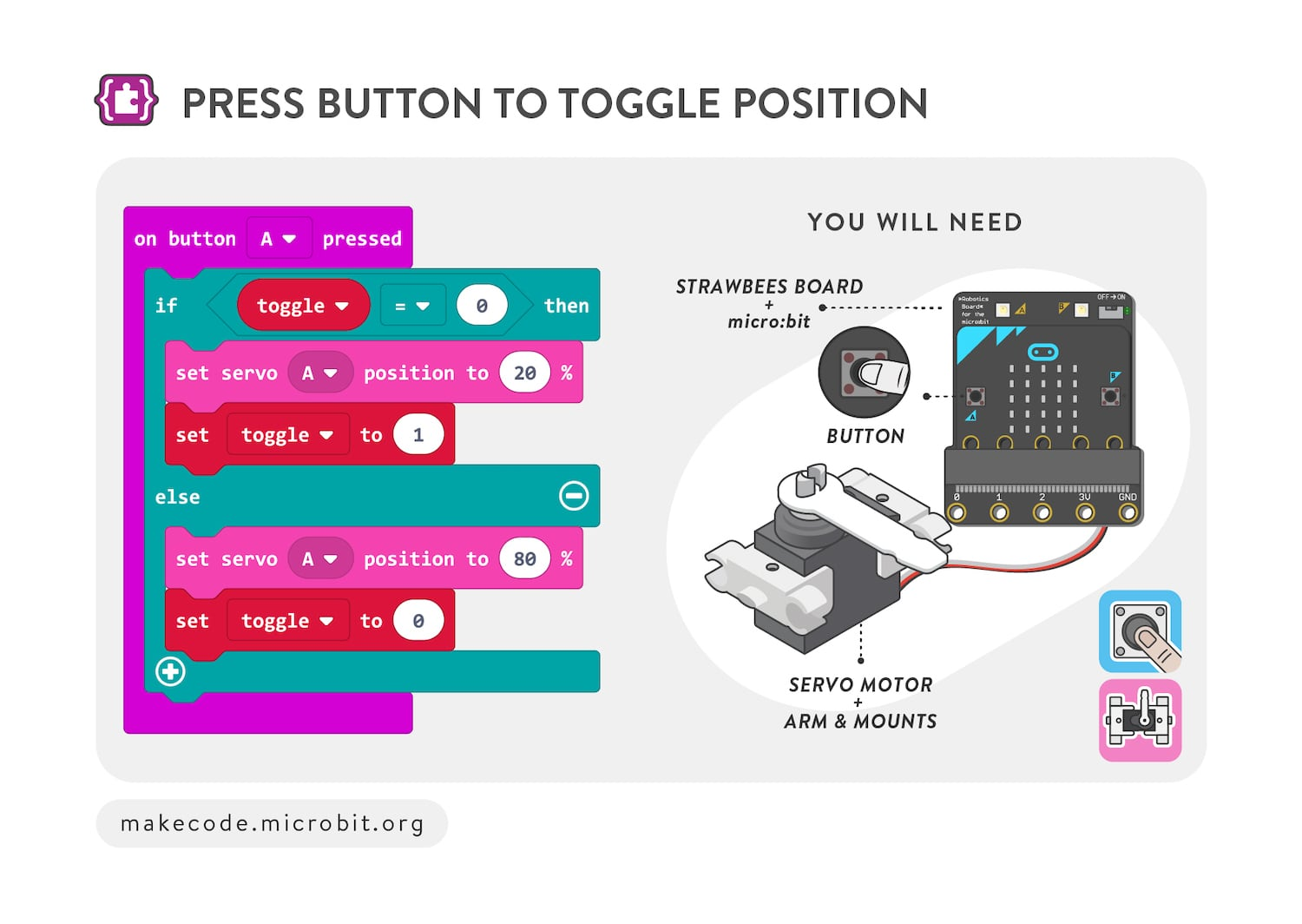 Press button to toggle position