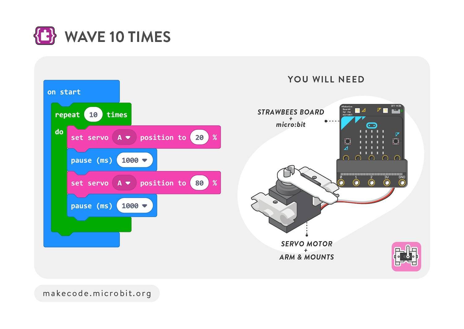 Wave 10 times