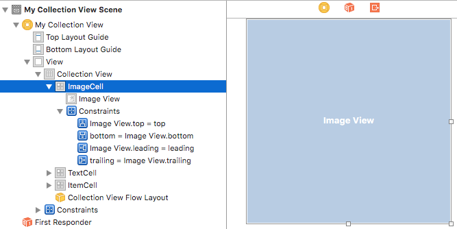 Image cell XCode
