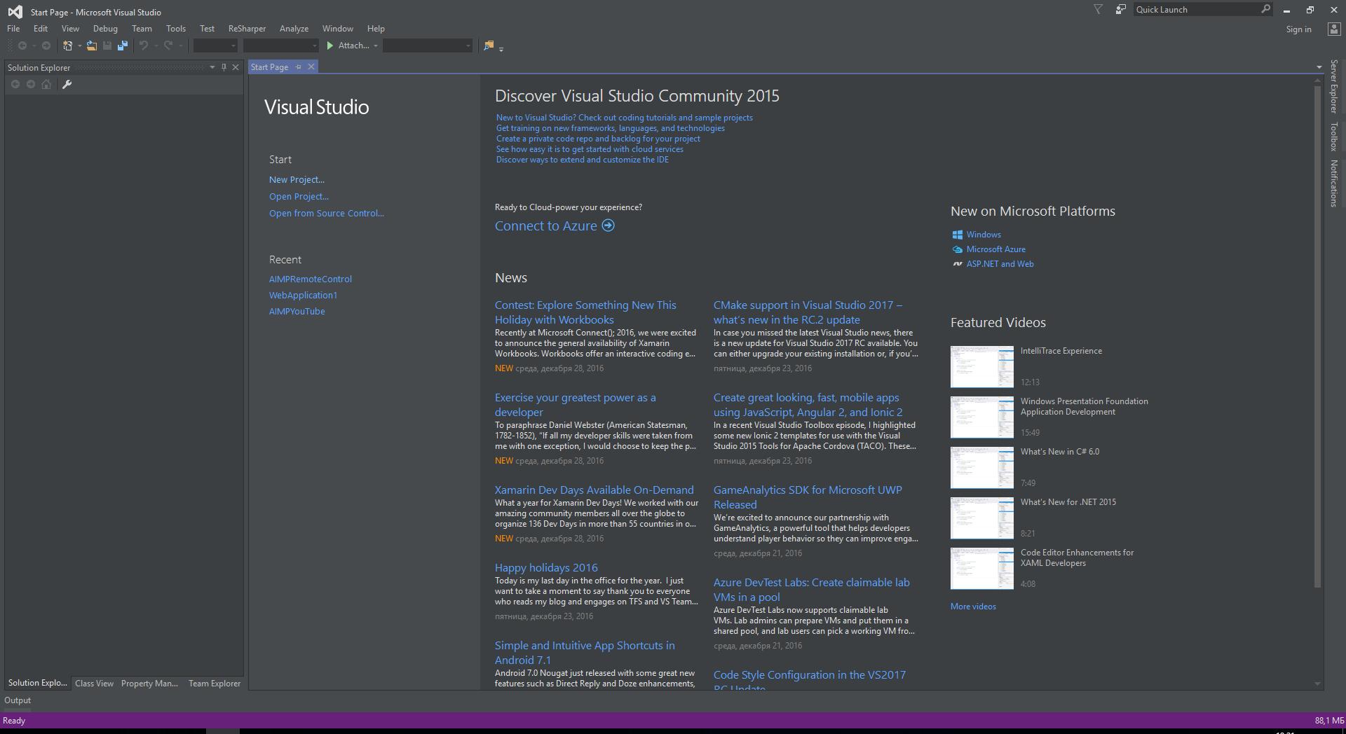 Visual Studio Darcula theme