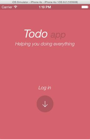 Xamarin demo app login