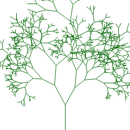 Tree generated using lines