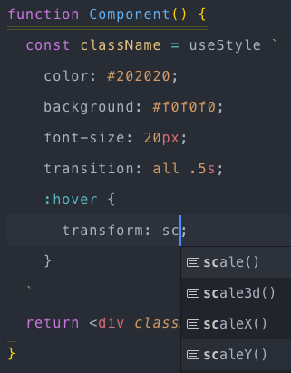Syntax highlighting in action