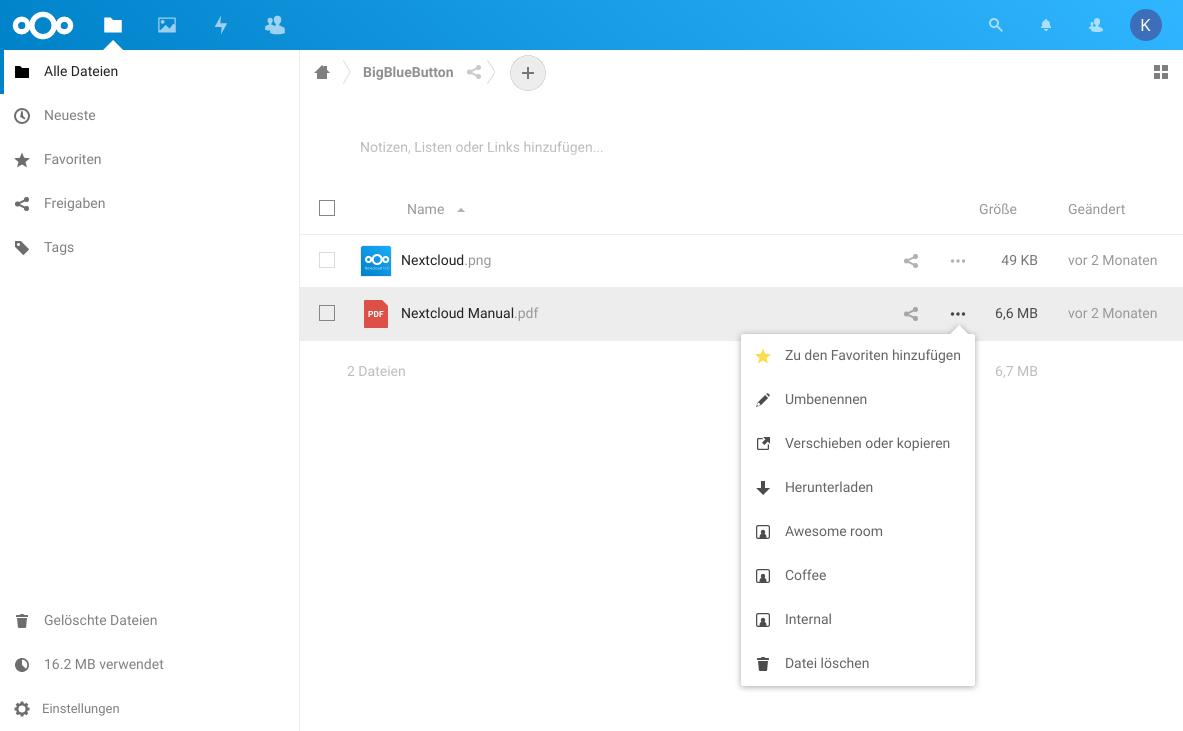 Screenshot file browser
