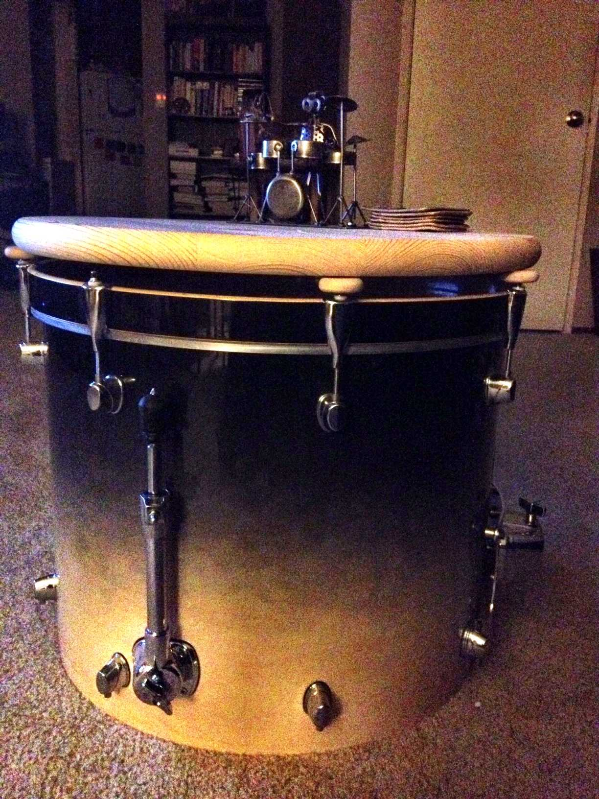 "16"" Bass Drum & Drum Set Coffee Table"
