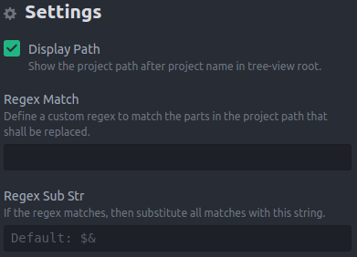 project-view Screenshot Settings