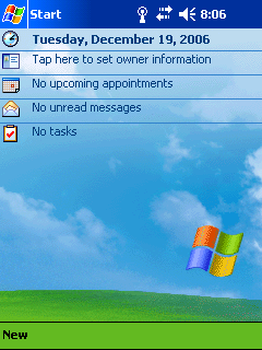 Windows Mobile 2003 Screenshot