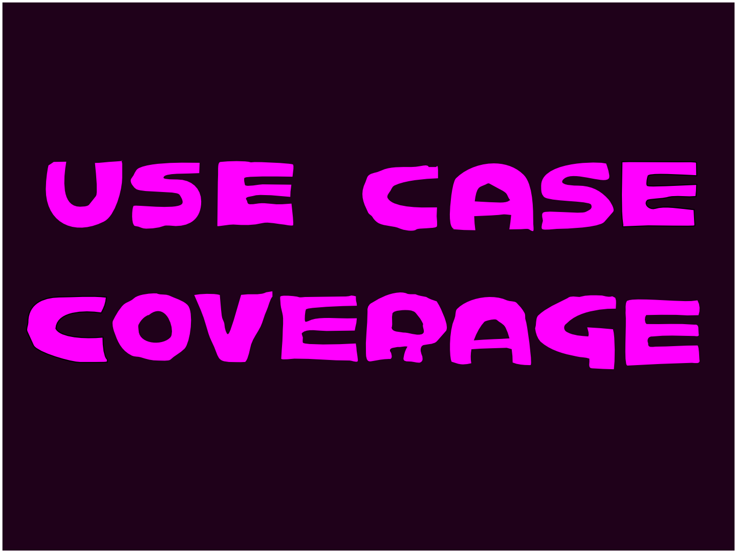 use case coverage