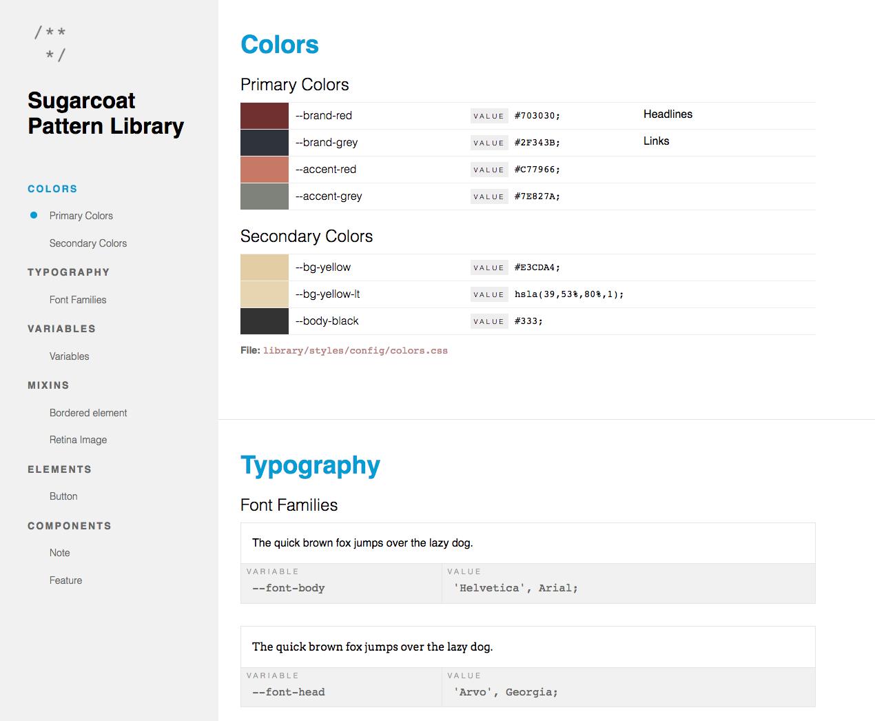 Screenshot Colors