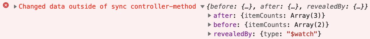 data changed outside method