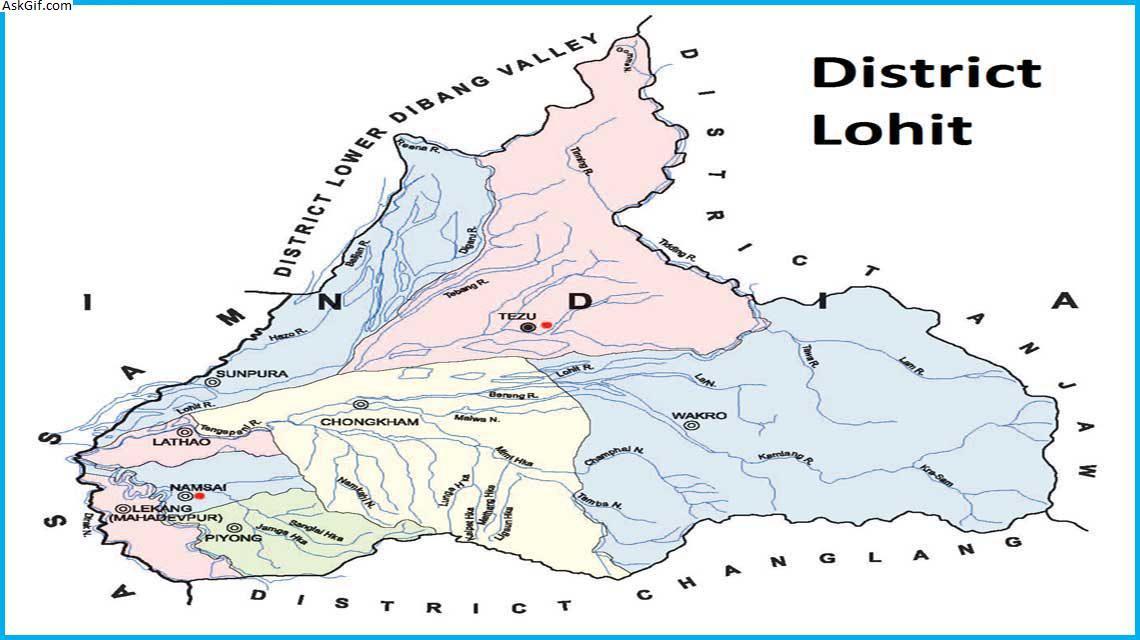 लोहित, तेजू में घूमने के लिए शीर्ष स्थान, अरुणाचल प्रदेश