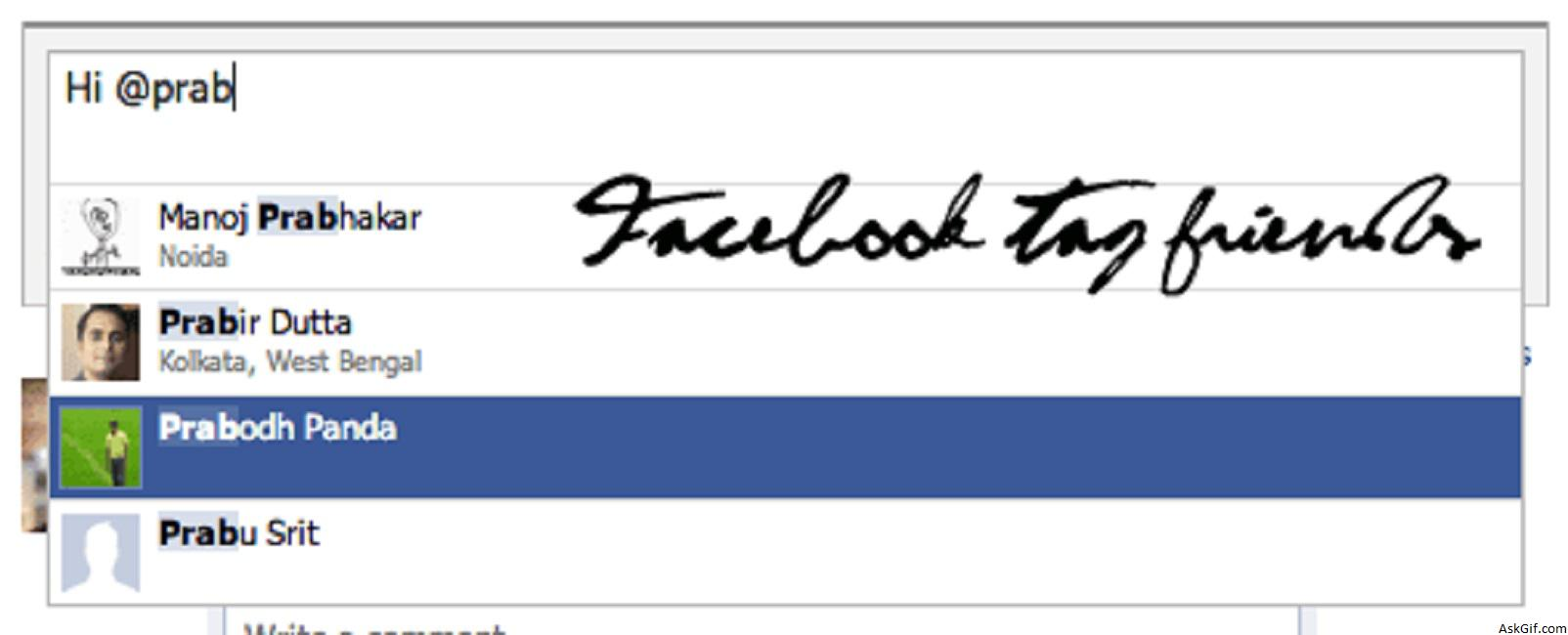 Implementing Facebook Style Tag Friends Using Jquery, Ajax and PHP