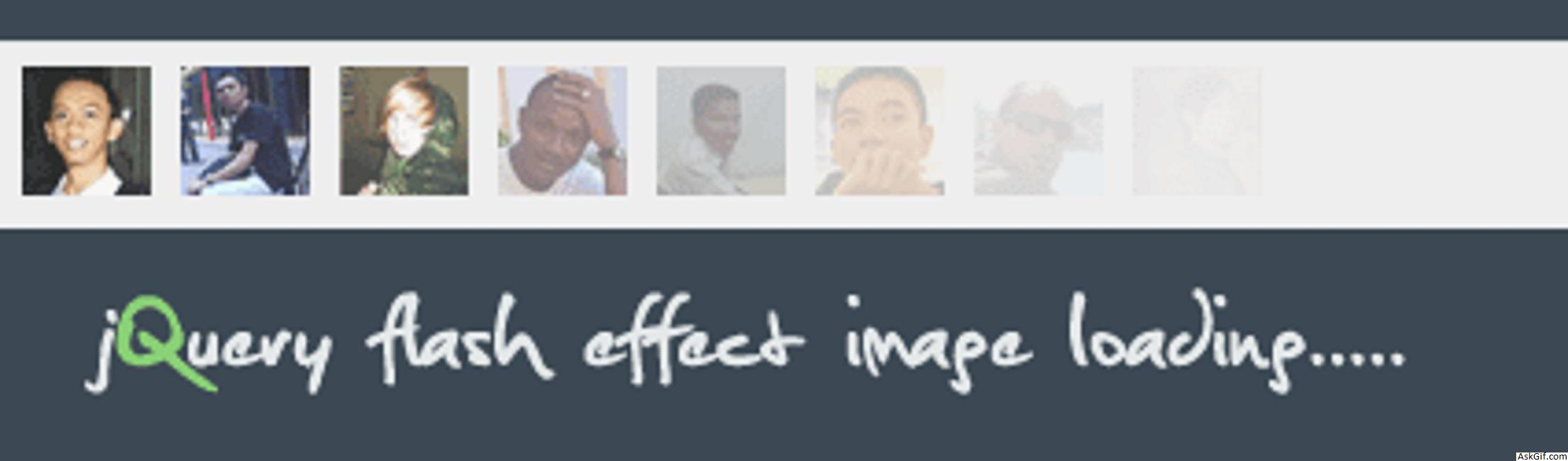 AddFlash Effect to Image Loading using Jquery.