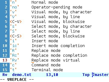 'Rv'     Replace mode virtual