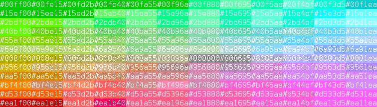 Color sample ansi-256