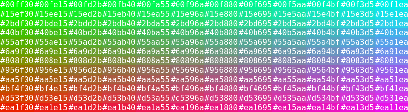 Color sample html