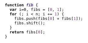 Fibonacci html output
