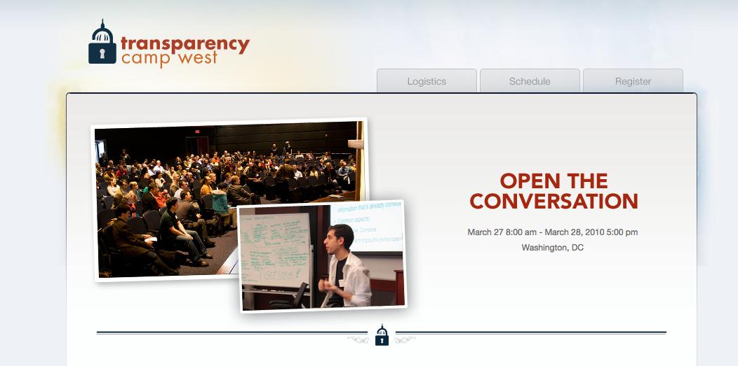 Transparency Camp West 2010 Screenshot