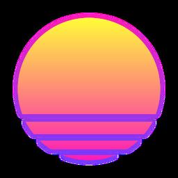 synthwave sunrise
