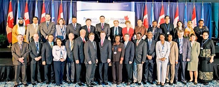 Представители стран, подписавших Монреальский договор