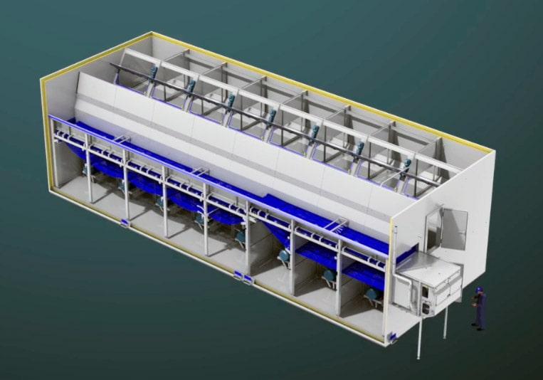 Флюидизационные конвейеры применяют для заморозки