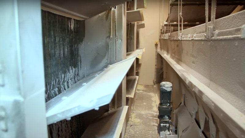 Внутри камеры флюидизационной заморозки