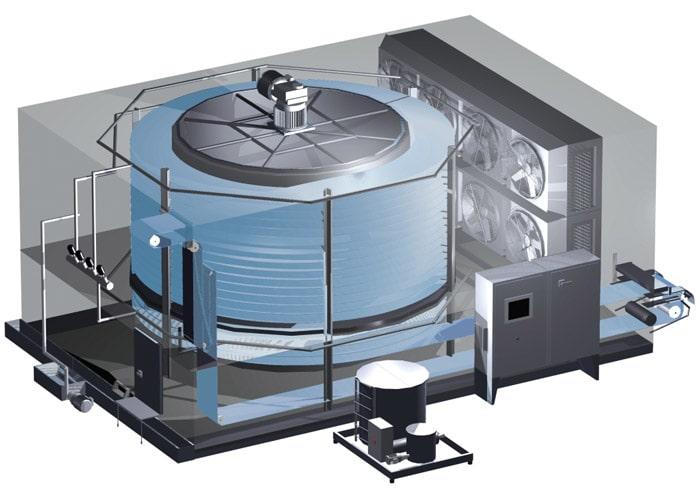 Спиральный конвейер для шоковой заморозки продуктов