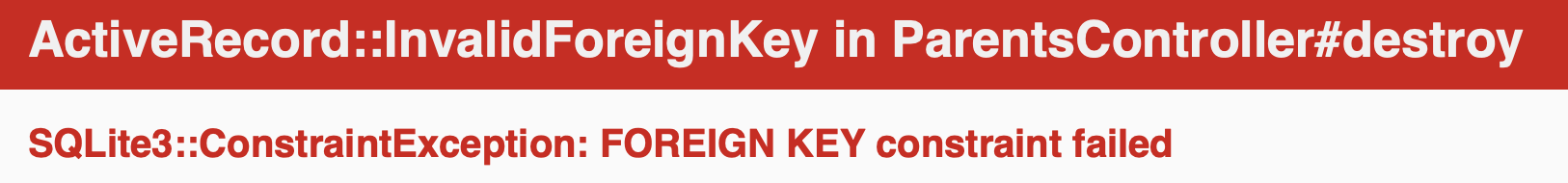 Foreign key error example