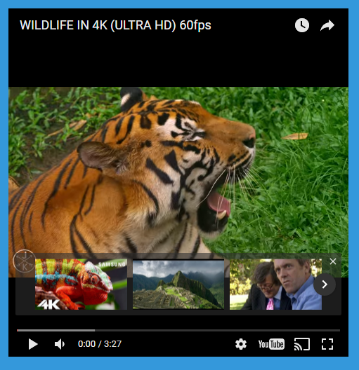 Youtube in an iframe