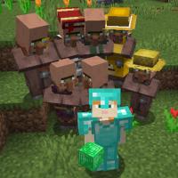 Villagers follow emerald blocks
