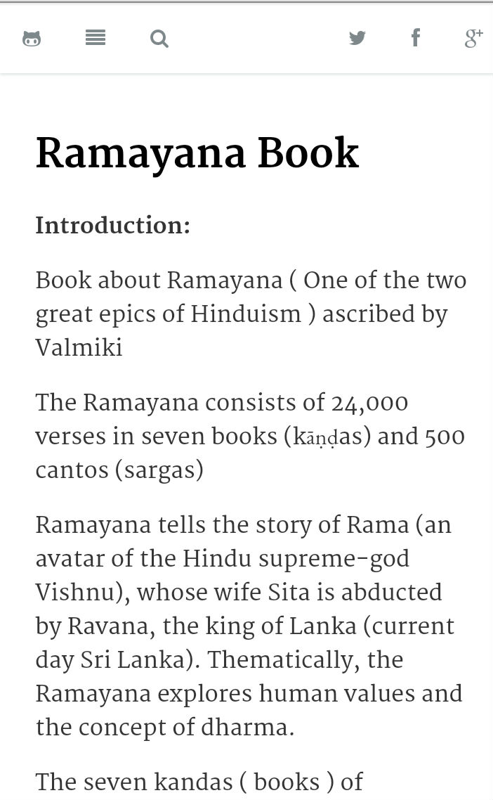 Book review of ramayana in english
