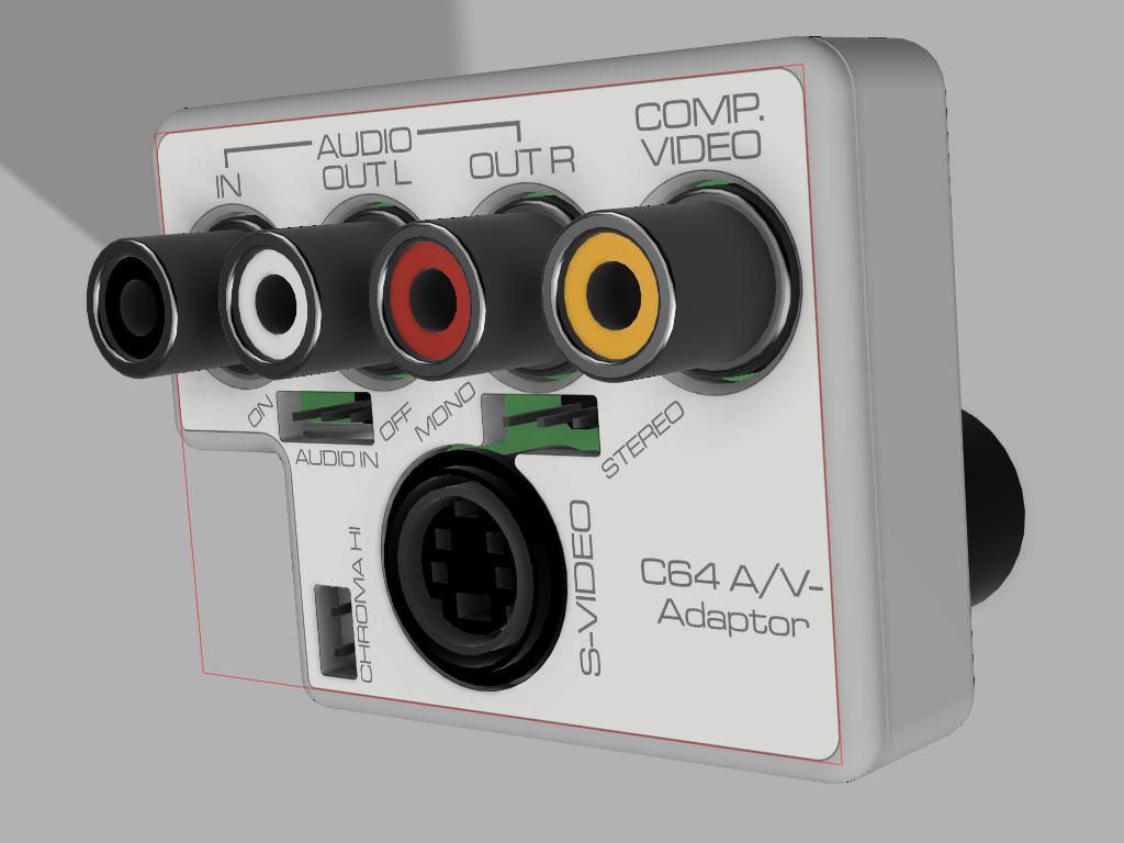 C64 A/V-Adaptor Case