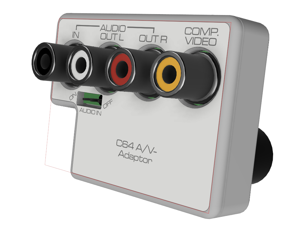 C64 5-pin A/V-Adaptor Case