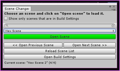 Scene Changer Tool Unity - UnityList