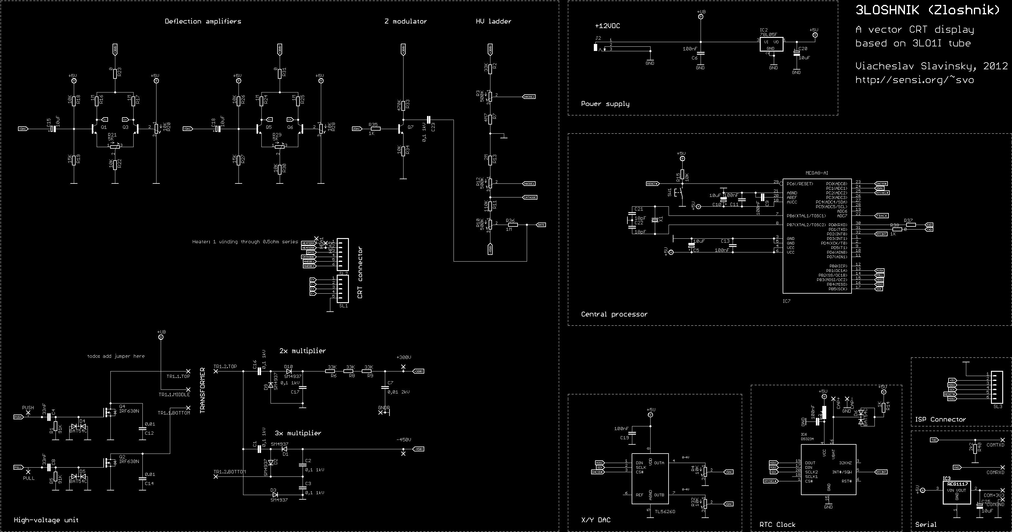 Zloshnik Vector Crt Display Screen Schematic The Complete Circuit