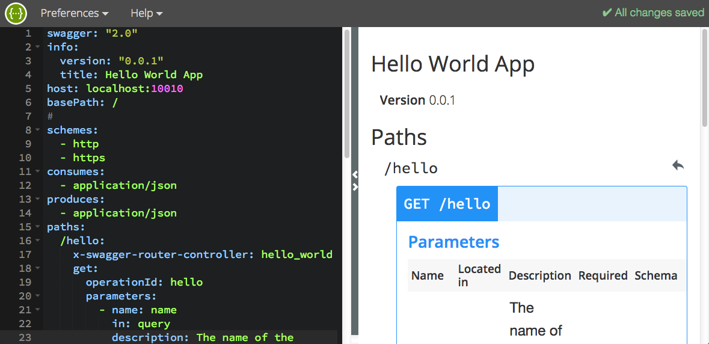 screenshot of project editor