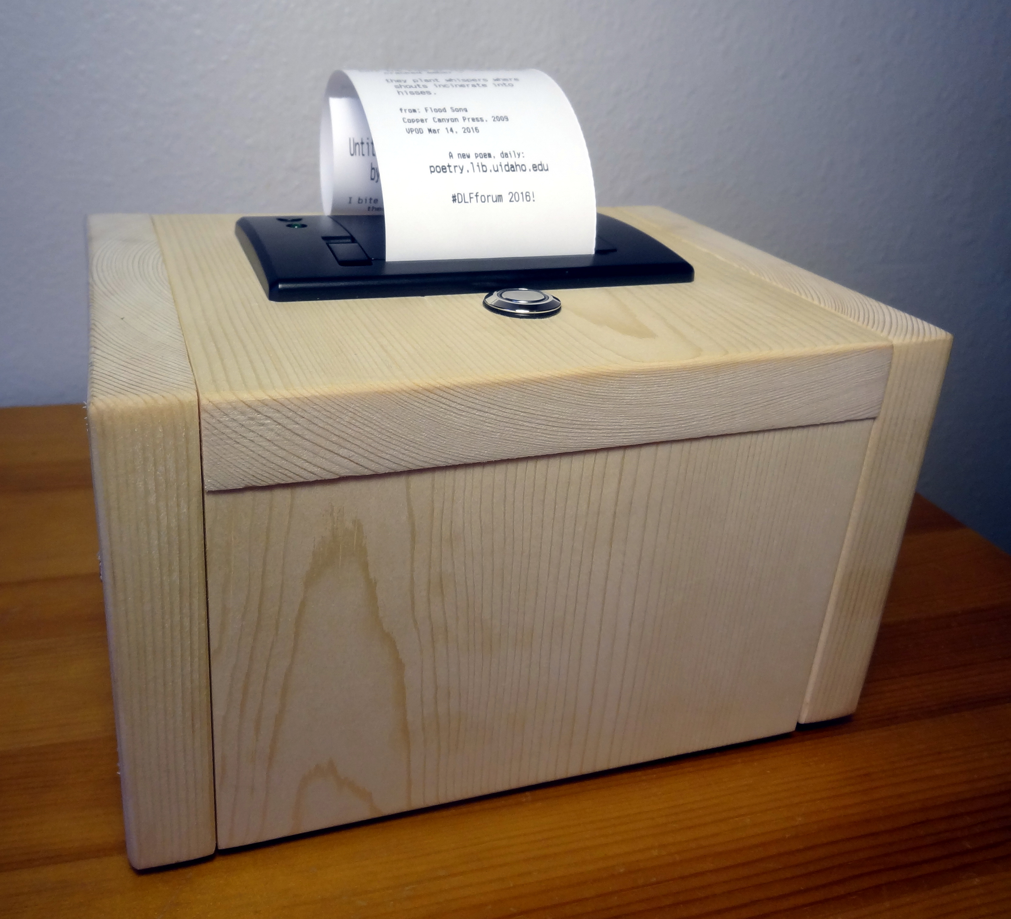 poemBot wooden case