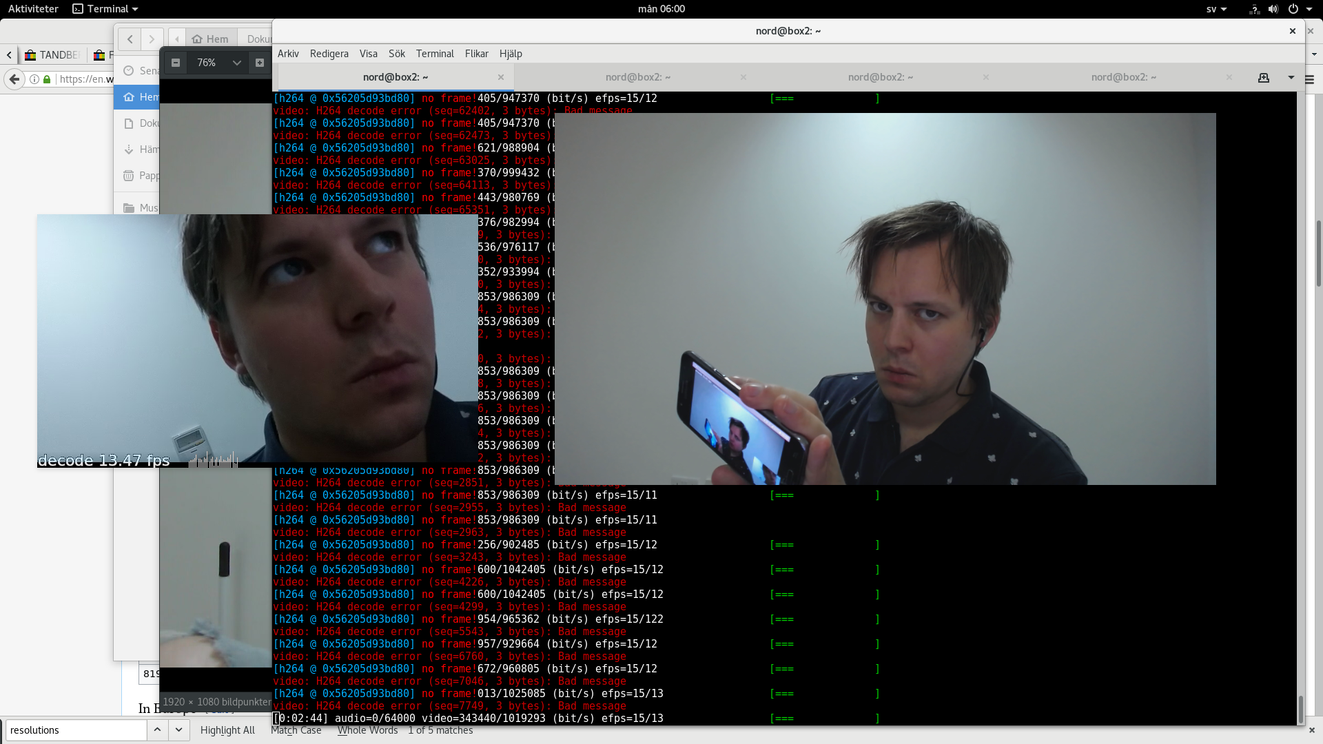 No video frames from H 264 USB camera using v4l2_codec with baresip