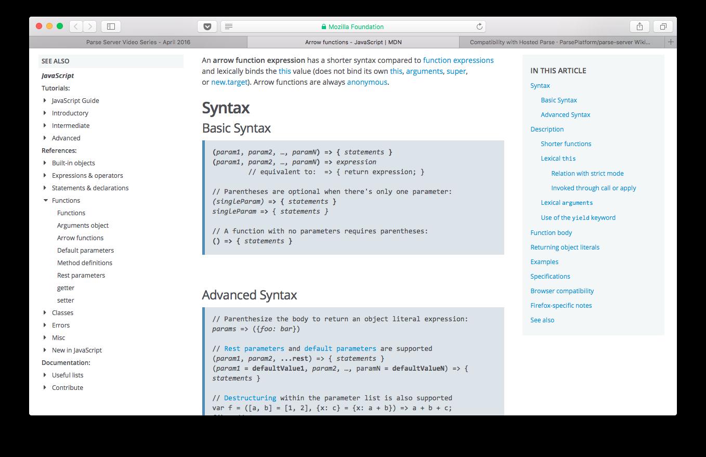 Arrow Functions Mozilla