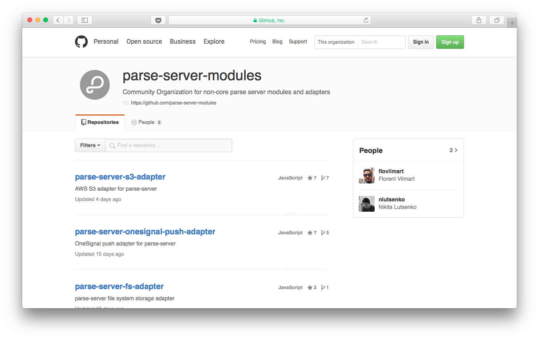 Parse Server modules