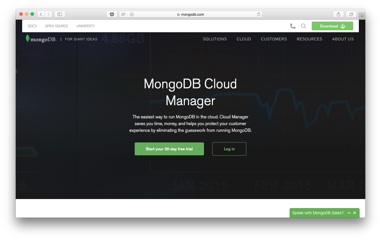 MongoDB Cloud Manager