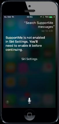 Enable Siri
